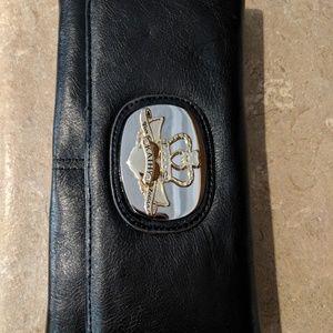 NWOT black leather wallet